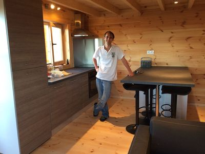Photo for seaview wooden chalet
