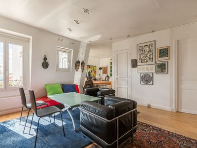 Photo for Colourful & quirky 2BR apartment, walking distance to the Eiffel Tower, by Veeve