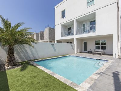 Photo for Immaculate Modern Home! Accommodates 20, Private Pool & Ocean Views! Across from Beach!