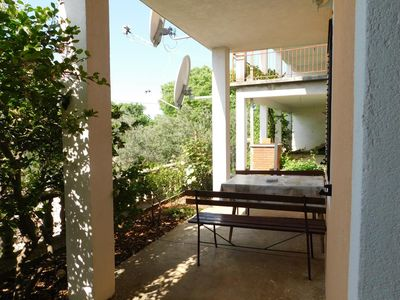 Photo for One bedroom apartment with terrace and sea view Seline (Paklenica) (A-17955-d)