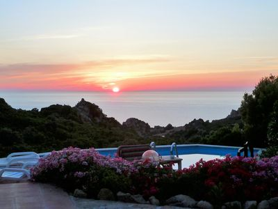 Photo for Villa Mela, private pool, climate, sea views, in the natural paradise