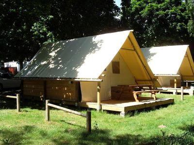 Photo for Camping Beauchêne *** - Canvas bungalow Amazone 3 rooms 4 people Without Bathroom