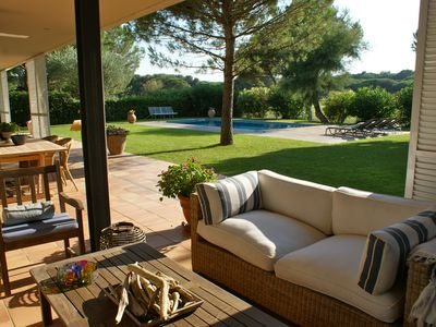 Photo for Villa Adjoining The Green Of The 18th Hole Of Platja De Pals Golf Course