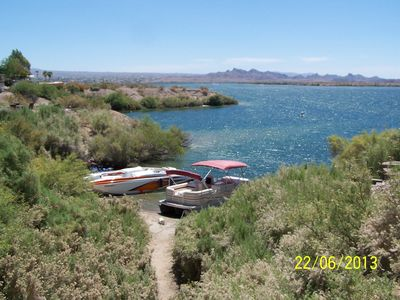 Photo for Lake Havasu Waterfront 2 Bd 1 Bath Park Model On A Cove.