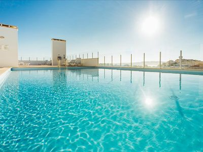 Photo for Apartment for Rent   Two Bedroom   Rooftop Swimming Pool, Jacuzzi and Gym   Sao Martinho do Porto