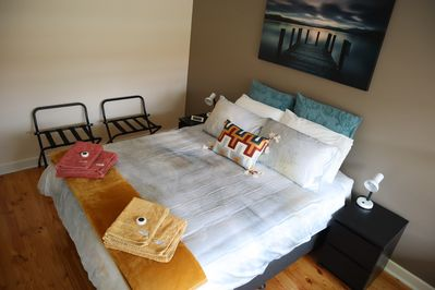 Master Bedroom dressed in style for the summer!