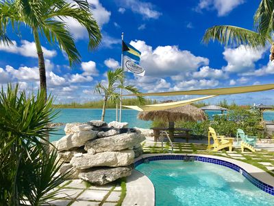 Photo for A Bahamian Boutique Villa & Waterfront Playground with Dock, Beach, Boat & Pool!