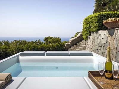 Photo for Villa Afrodite with Sea View, Jacuzzi, Garden and Parking near the Sea