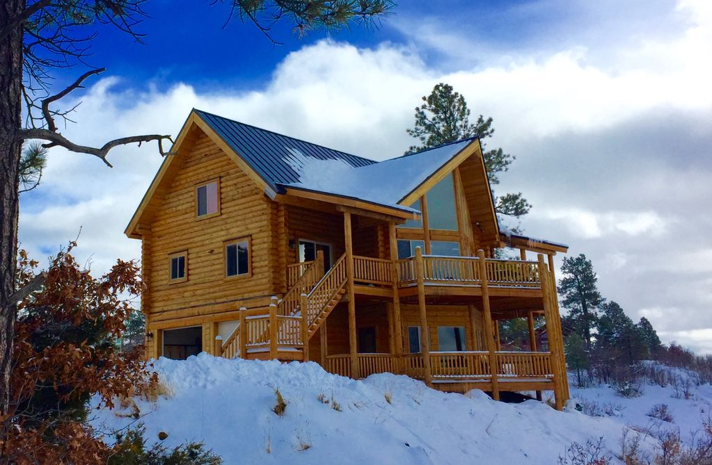 located vrbo getaway between pagosa ideally cabin springs wolf cabins