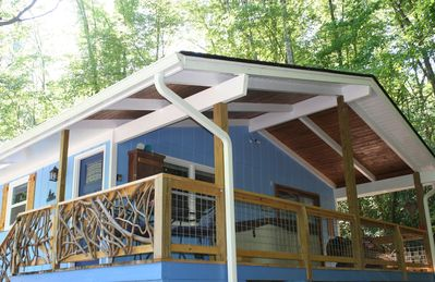 Photo for Cottage on Stream - Hot Tub - Fenced - Large Porch - Fireplace - October SALE!
