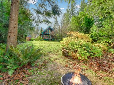 Photo for Secluded cabin with private hot tub & garden - close to hiking trails & rafting