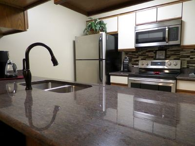 beautiful granite countertops & new appliances plus everything for meal prep