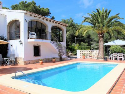 Photo for Gorgeous Villa, 3 bedroom, 2 bathroom with Private Pool and open hillside Views