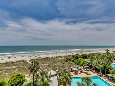 Photo for Large Oceanfront Two Bedroom Two Bath Condo at Carolina Dunes! (4th Floor)