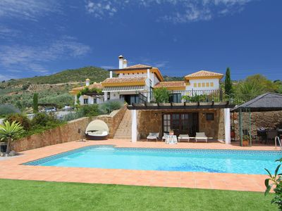 Photo for Luxury villa with great mountain views, pool, sauna, jacuzzi and padel court
