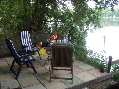 Photo for Pure idyll: own fishing and bathing jetty, boat, lake access, Tel .: 0173/6209778