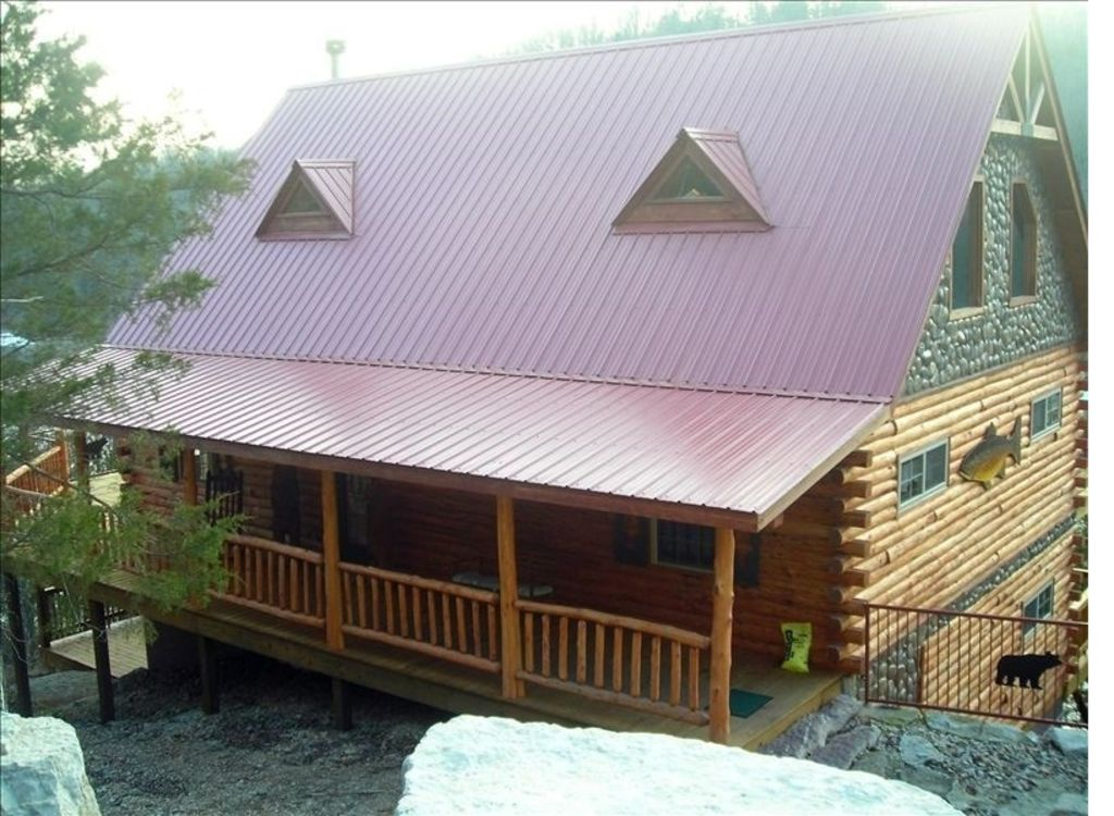 Property Image#2 Waterfront Paradise, Log Cabin On Beaver Lake Minutes From Eureka  Springs