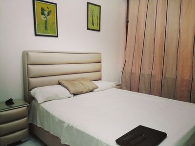 Photo for Cosy Double-Bedroom in the city center on the beach.