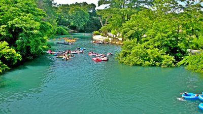 enjoy tubing the Comal...it is in your backyard!