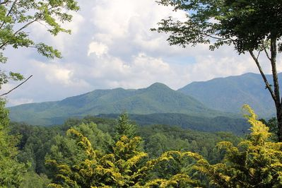 Beautiful Summer View of Mt. Leconte from the upper deck.
