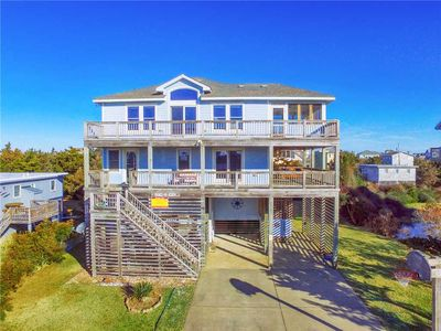 Photo for Awesome Oceanview Home, Salvo w/ Pool, Tiki Bar, Hot Tub, Game Rm, Dog-Friendly