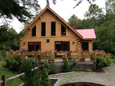 Photo for Private Log Cabin In Walking Distance To Main Street