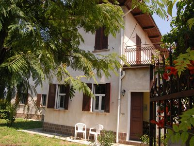 Photo for Stylish and comfortable holiday home overlooking a green valley of the Monferrato