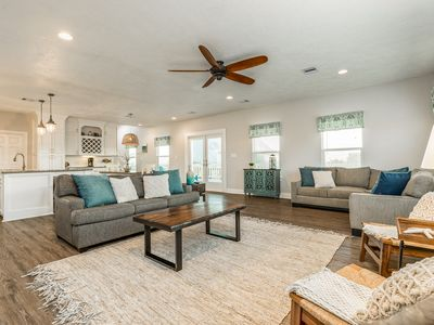 Photo for Gorgeous dog-friendly home with furnished deck, patio, and view of the Gulf