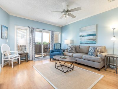 Photo for Great Location! Only 20 Yds to Beach, Elevator and Balcony w/ Partial Side Ocean View