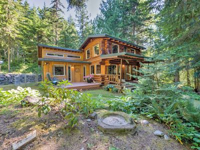 Photo for Rustic 3BR Sequim Cabin w/Fire Pit & Forest Views!