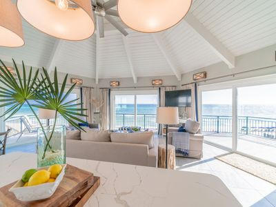 Photo for Paradise30a~Nifty Shades of Gray, Gulf Front, Renovated, Bikes & Beach Chairs Included, 2 Masters