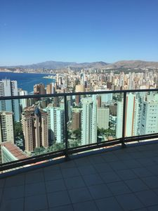 Photo for Design apartment with large panoramic terrace Torre Lugano Benidorm
