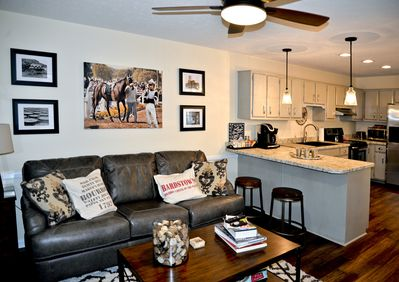 """Living Area includes 48"""" Sony Smart TV"""