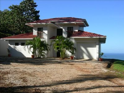 View of the House with Ocean in the background