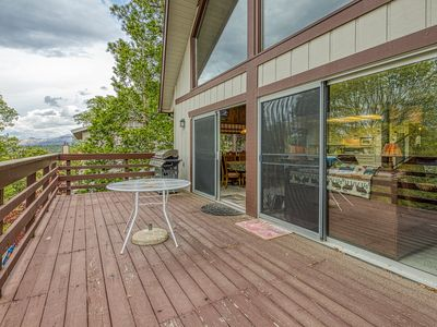 Photo for Rustic cabin w/ private pool table, large deck and forest views