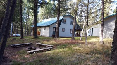 Photo for HILLTOP HIDEAWAY⭐️PRIVATE DELUXE HOT TUB QUIET WOODED LOT FREE WIFI 35MIN TO YNP🚛FREE TRASH PICK UP