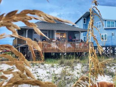 Photo for Beachfront Bungalow, steps over the dunes onto the beach. This is a 4 bedroom