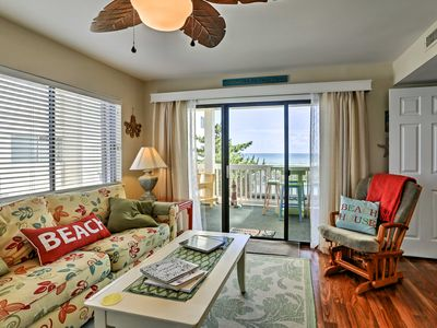 Photo for Condo w/ Large Oceanfront Deck & Captain Chairs!