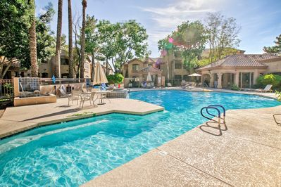 Delight in access to amenities like a heated pool, hot tub and more.