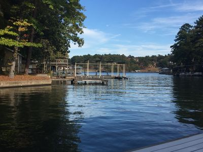 View of the main channel from the dock. Near marina, swim beach, and boat ramp.