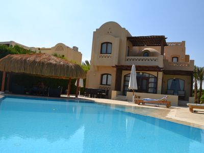 Photo for Luxury villa, with heated private pool and free view