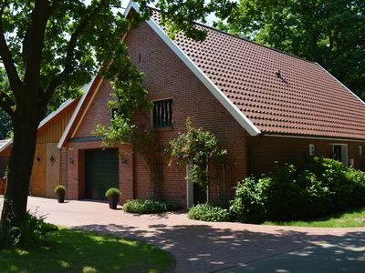 Photo for Detached country house in the Oldenburg Münsterland with stove, terrace and garden