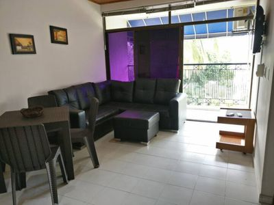 Photo for Sea view, 2bd apartment, 15 metres from the beach