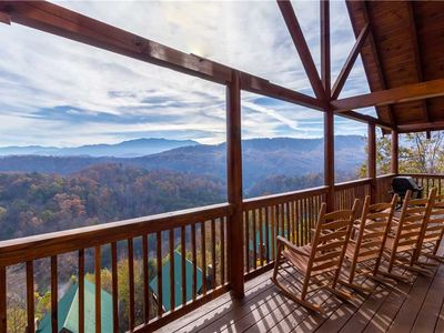 Photo for Smoky View Lodge, 6 Bedrooms, Theater, Pool Table, Arcade, Sleeps 18