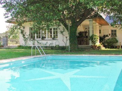 Photo for Holiday villa with pool, free wifi and nature views for large families in Orrius, Barcelona - CM323