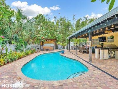 Photo for Boca Smart House & Dream Private Backyard w Salt Pool/Jacuzzi/BBQ/Sound System