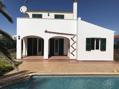Photo for VILLA WITH POOL IN Calan Blanes