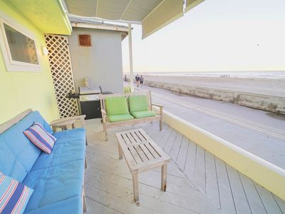 Photo for Ocean Front 2 Bedroom Green Large deck w/shade WiFi BBQ Garage Washer/dryer