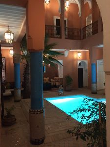 First patio at the entrance of the riad