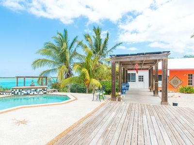 Photo for Luxury Waterfront Home Overlooking Moriah Cay with all you need to explore Exuma